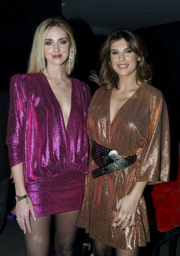 Chiara Ferragni and Elisabetta Canalis - Aniye Fall Winter 2020 Fashion Show in Milan