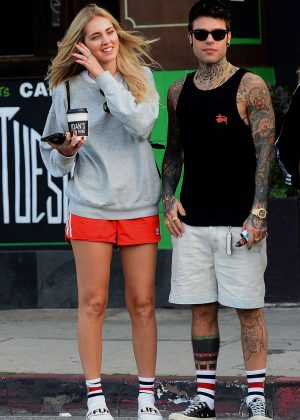 Chiara Ferragni and Fedez at Joans On Third in Los Angeles