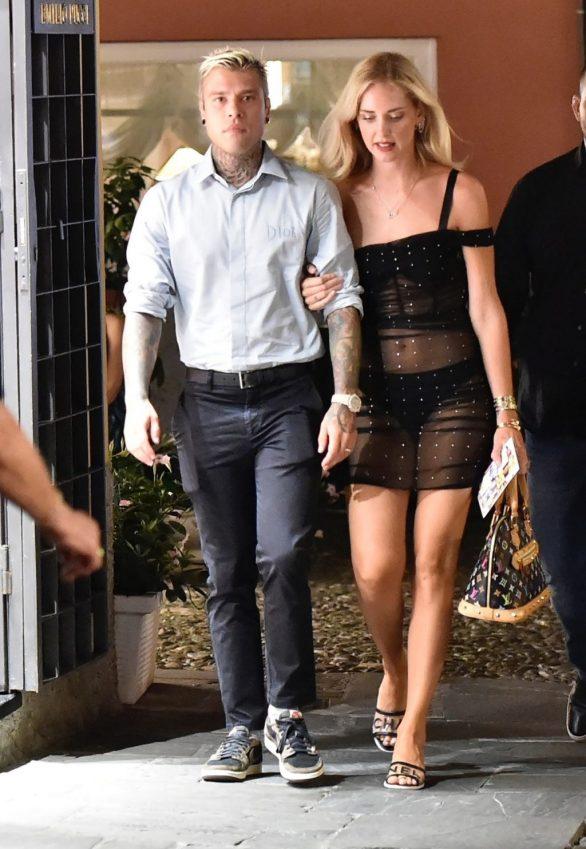 Chiara Ferragni and Fedez were seen in Portofino
