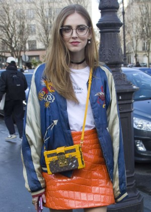 Chiara Ferragni - Arriving the Giambattista Valli Fashion Show 2016 in Paris
