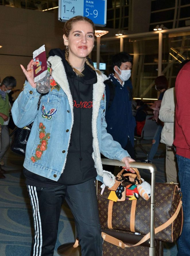 Chiara Ferragni at Tokyo International Airport
