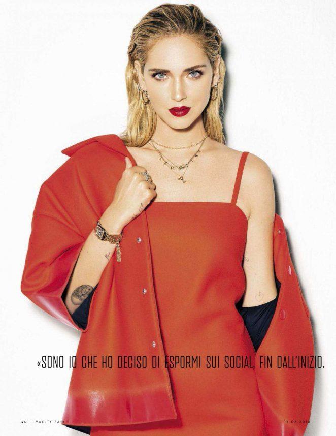 Chiara Ferragni for Vanity Fair Italy Magazine (August 2018)