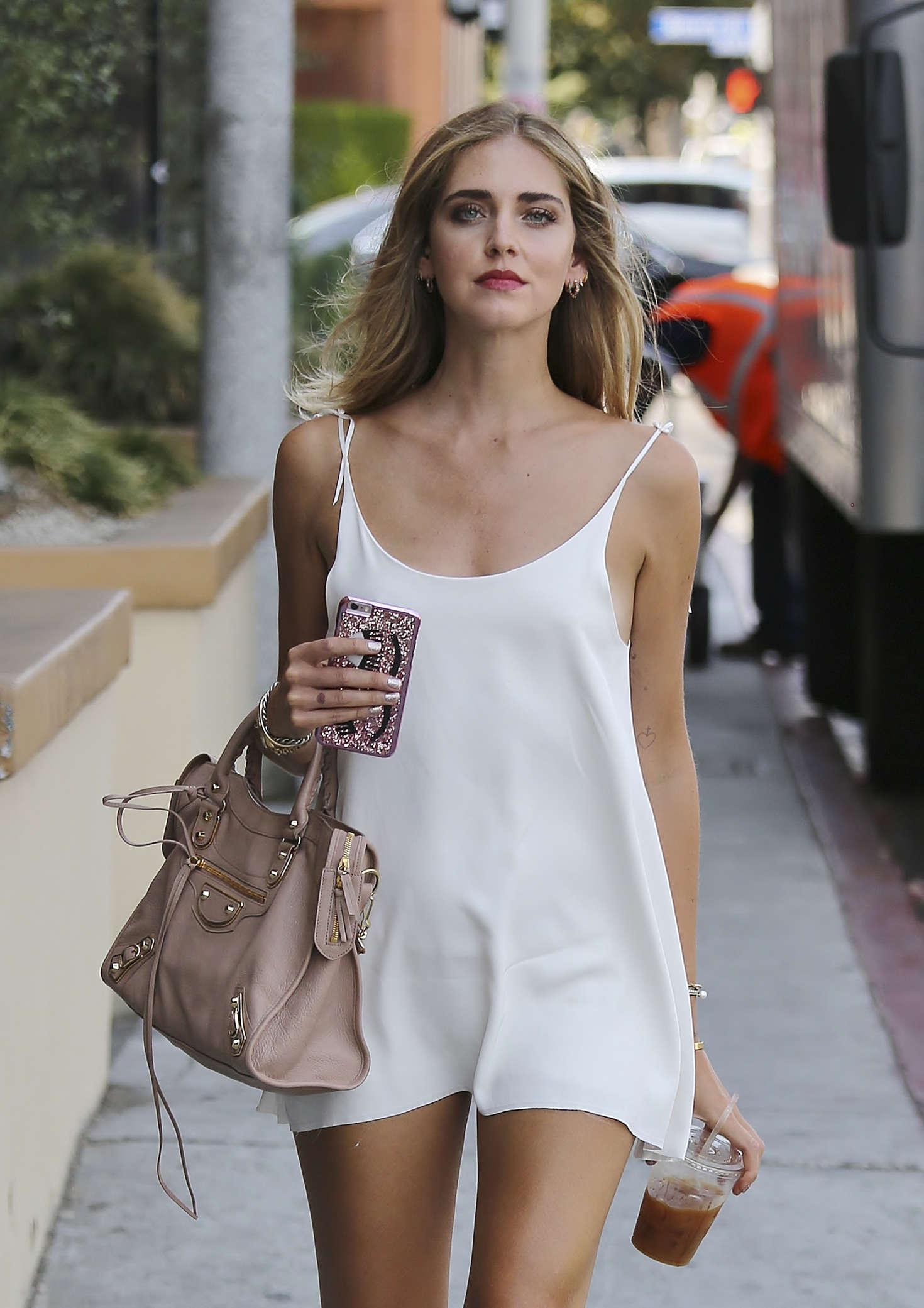 Chiara Ferragni in Mini Dress out in Los Angeles – GotCeleb