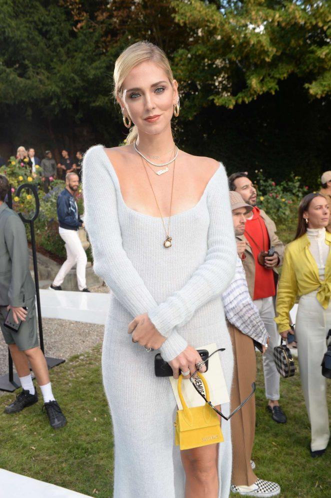 Chiara Ferragni – Jacquemus Fashion Show in Paris