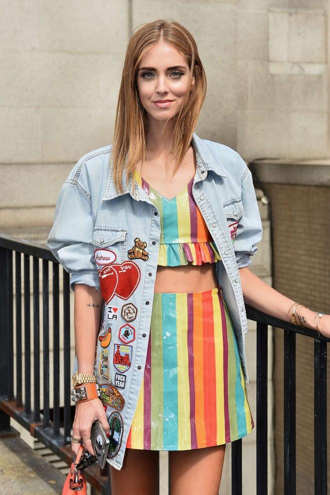 Chiara Ferragni - Jeremy Scott Fashion Show Spring 2016 NYFW in NYC