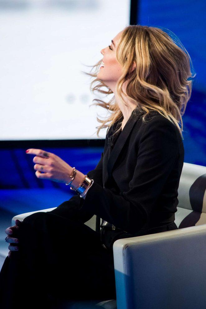 Chiara Ferragni on Italian television show Che Tempo Che Fa -04