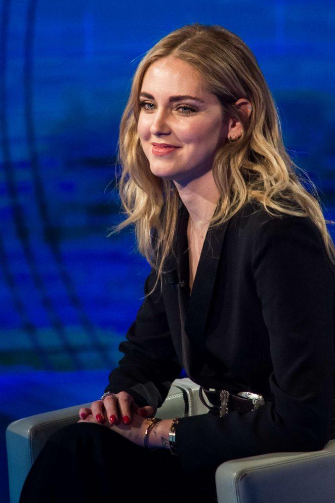 Chiara Ferragni on Italian television show Che Tempo Che Fa -06