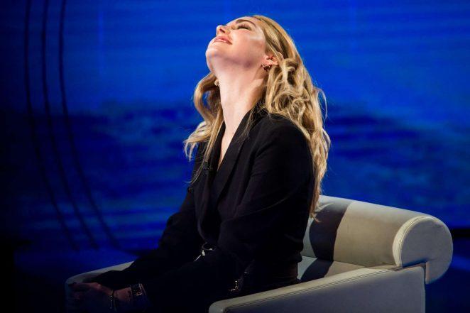 Chiara Ferragni on Italian television show Che Tempo Che Fa -08