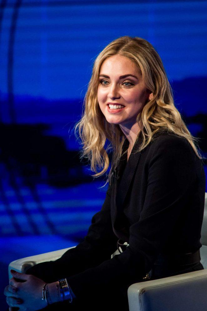 Chiara Ferragni on Italian television show Che Tempo Che Fa -10