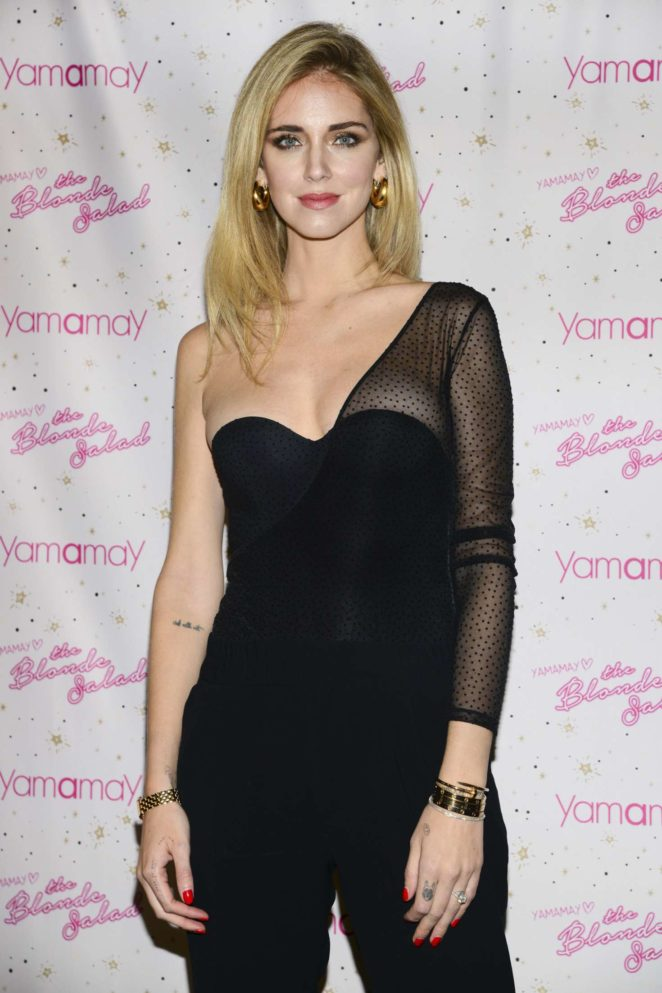 Chiara Ferragni - 'The Blonde salad - limited edition' Presenting for Yamamay in Milan