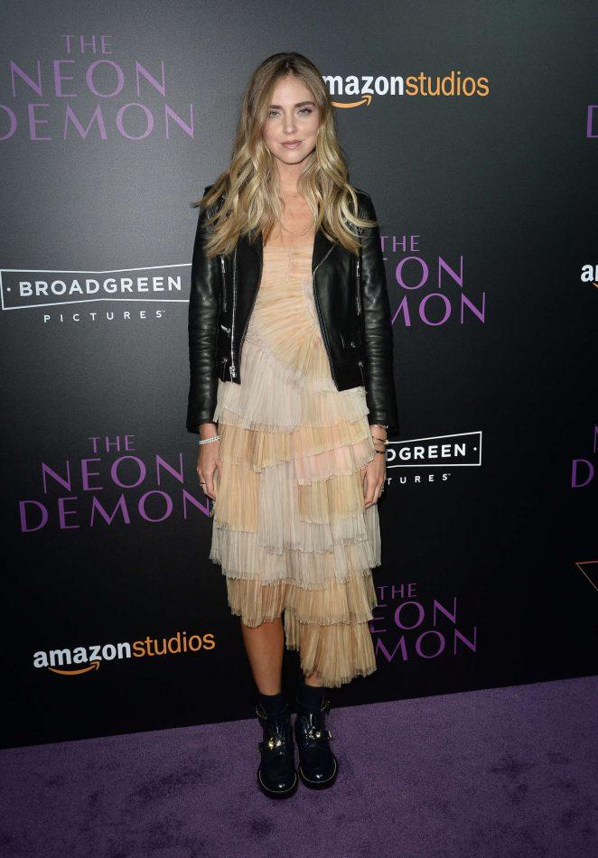 Chiara Ferragni - 'The Neon Demon' Premiere in Los Angeles