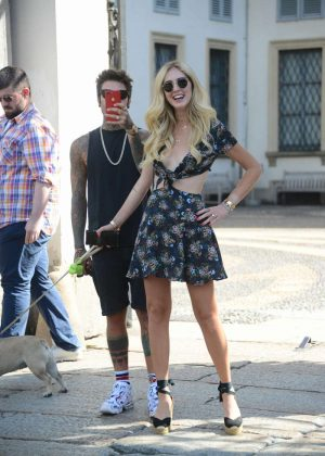 Chiara Ferragni with boyfriend out in Milan