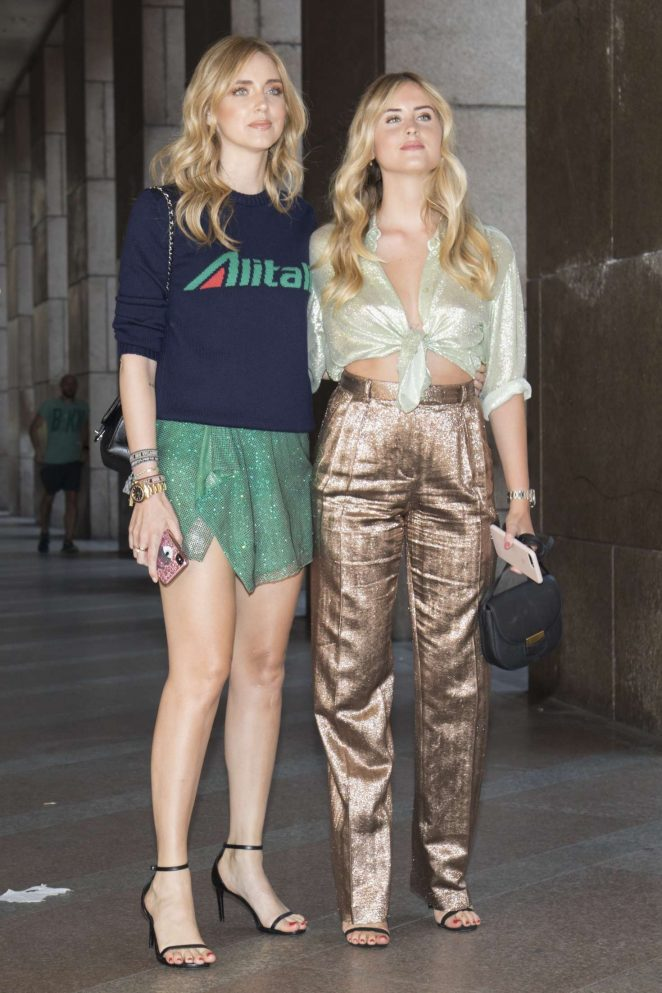 Chiara Ferragni with her sister out in Milano