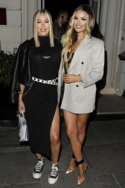 Chloe and Demi Sims - Leaving Sketch Restaurant in London