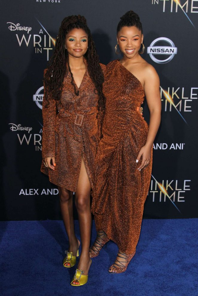 Chloe and Halle Bailey – 'A Wrinkle in Time' Premiere in Los Angeles