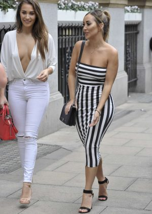 Chloe and Lauryn Goodman at Rosso Restaurant in Manchester