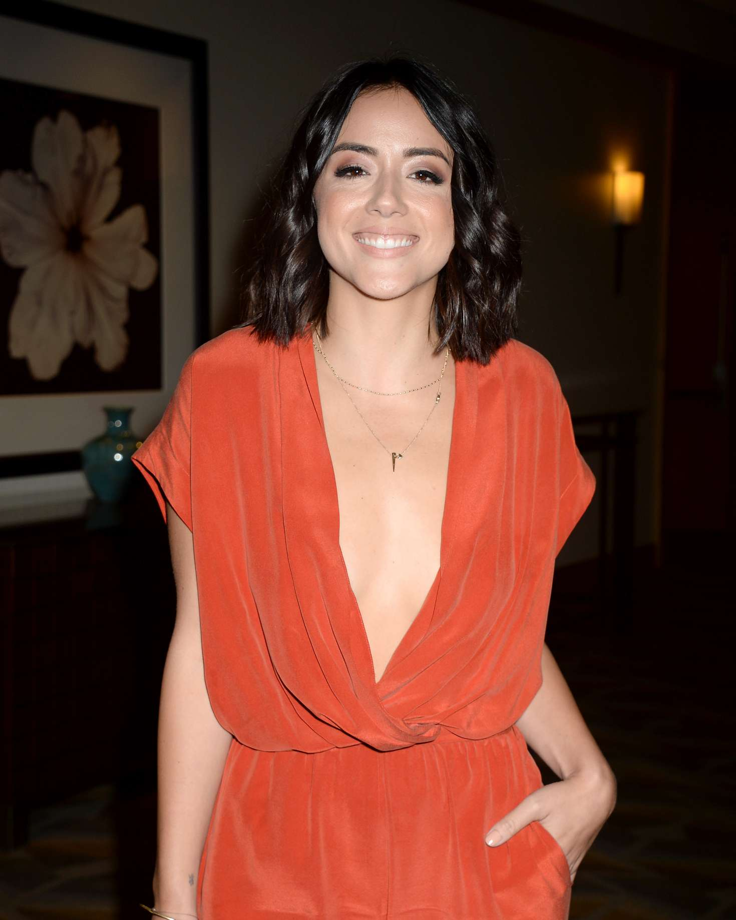 pictures Chloe bennet agents of shield press room at wondercon in anaheim