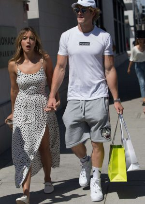 Chloe Bennet and boyfriend Logan Paul - Shopping in Beverly Hills