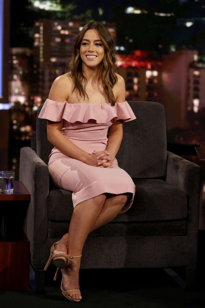Chloe Bennet at Jimmy Kimmel Live! in Los Angeles