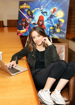 Chloe Bennet - Celebrating 'Women of Power' with Marvel Contest ofions mobile game in LA