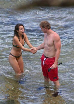 Chloe Bennet In Bikini With Boyfriend At The Beach In Hawaii