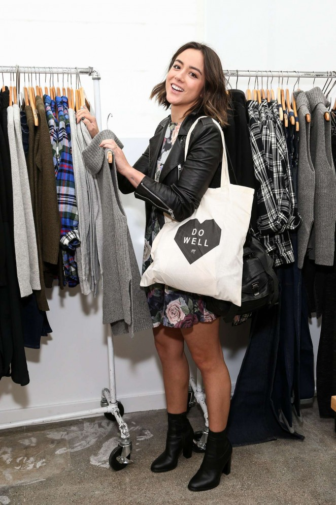 Chloe Bennet - Madewell Denim Recycling Drive in Beverly Hills