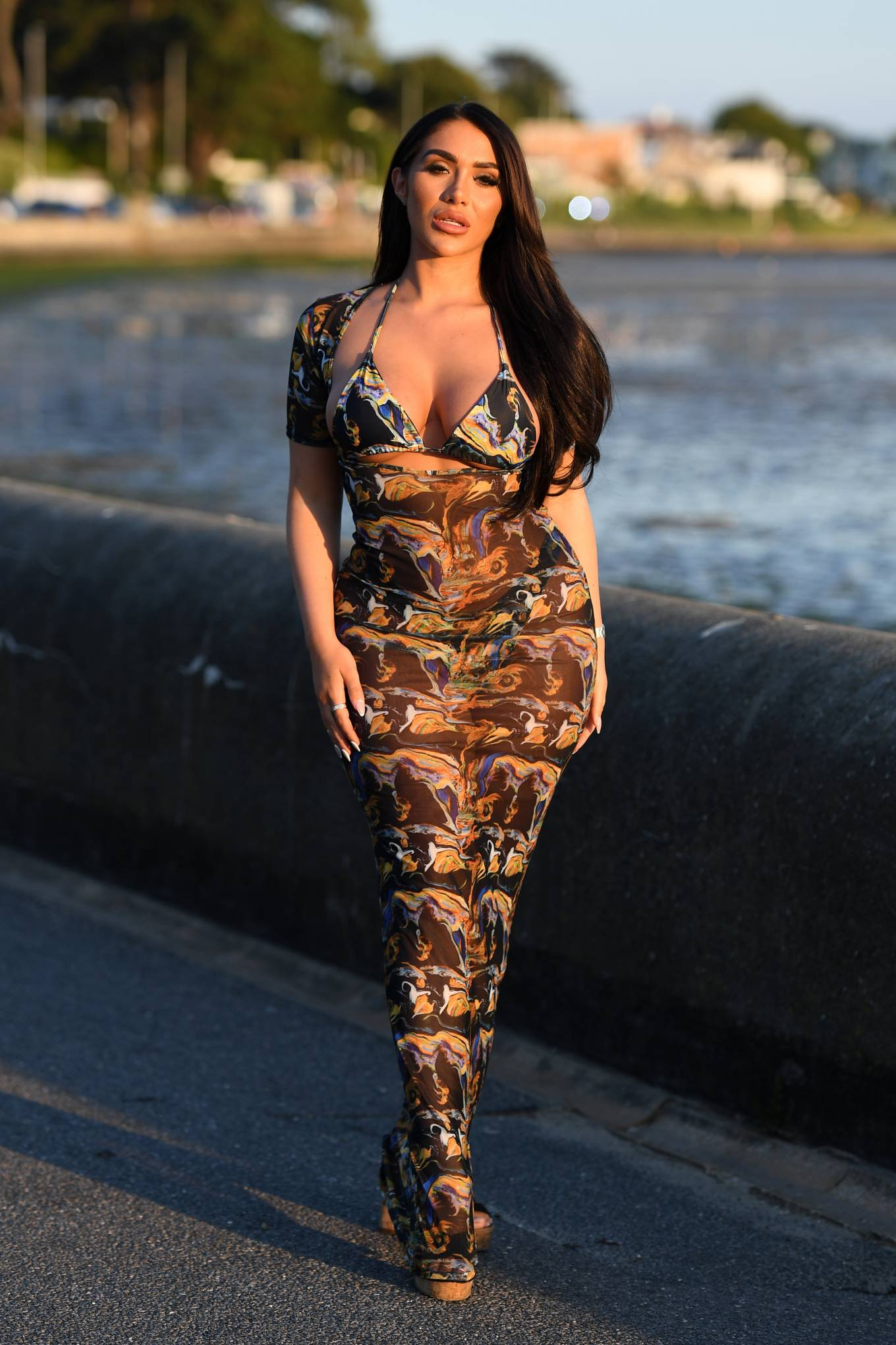 Chloe Brockett - The Only Way is Essex TV Show filming