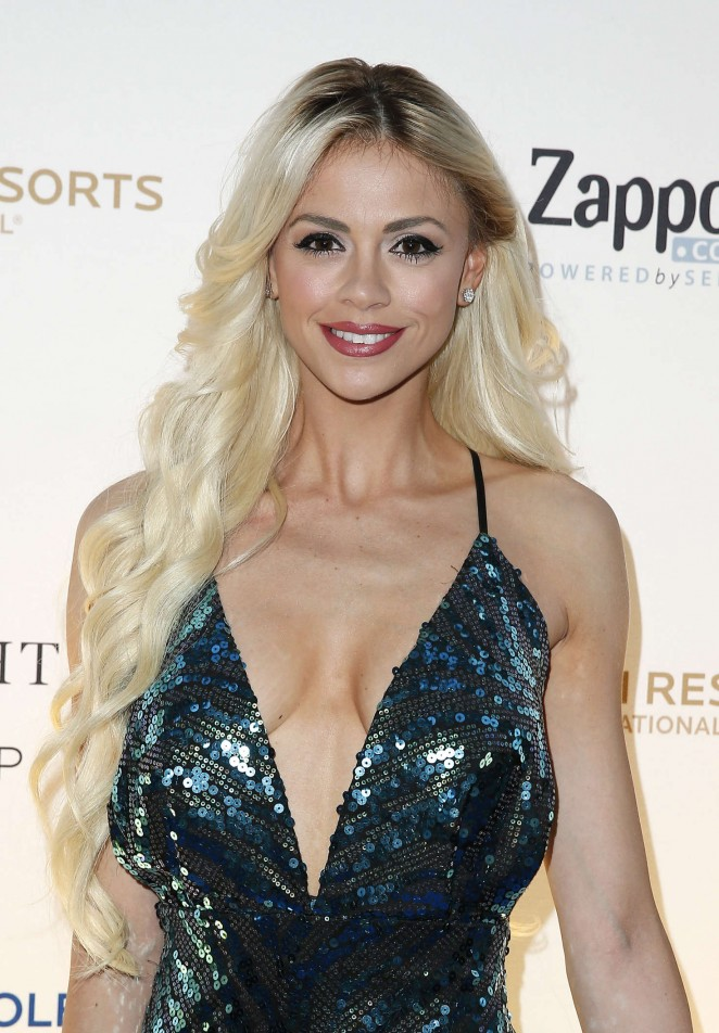 Chloe Crawford - One Night for ONE DROP Blue Carpet in Las Vegas