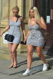 Chloe Ferry and Bethan Kershaw - Leaving Esho Clinic in Newcastle