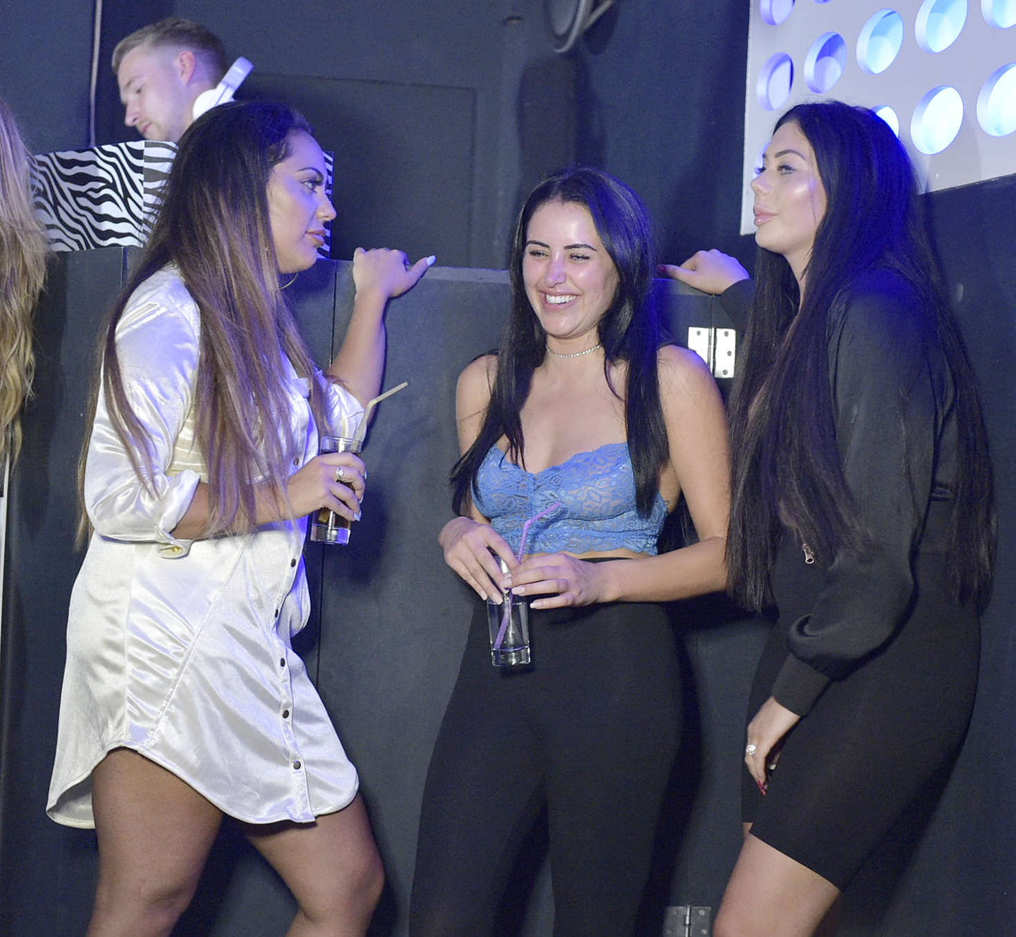 Chloe Ferry and Marnie Simpson - Filming at Sound Nightclub in Kavos