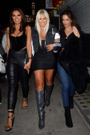 Chloe Ferry and Nicole Bass - Leaving 'The Ex On The Beach' Screening in London