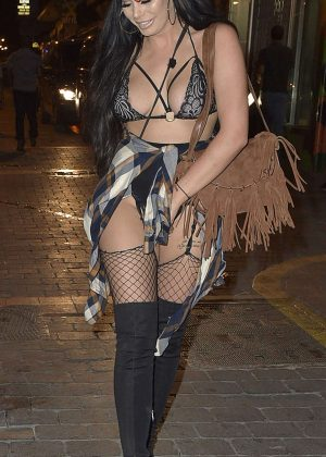 Chloe Ferry at LYT Nightclub in San Antonio