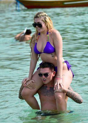 Chloe Ferry - Bikini at the beach in Thailand