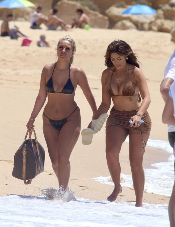 Chloe Ferry - In latex bikini with Bethan Kershaw in Portugal
