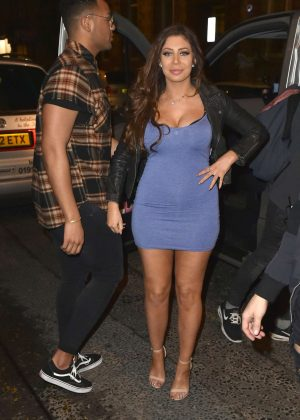 Chloe Ferry in Tight Short Dress on Valentines Day in Newcastle
