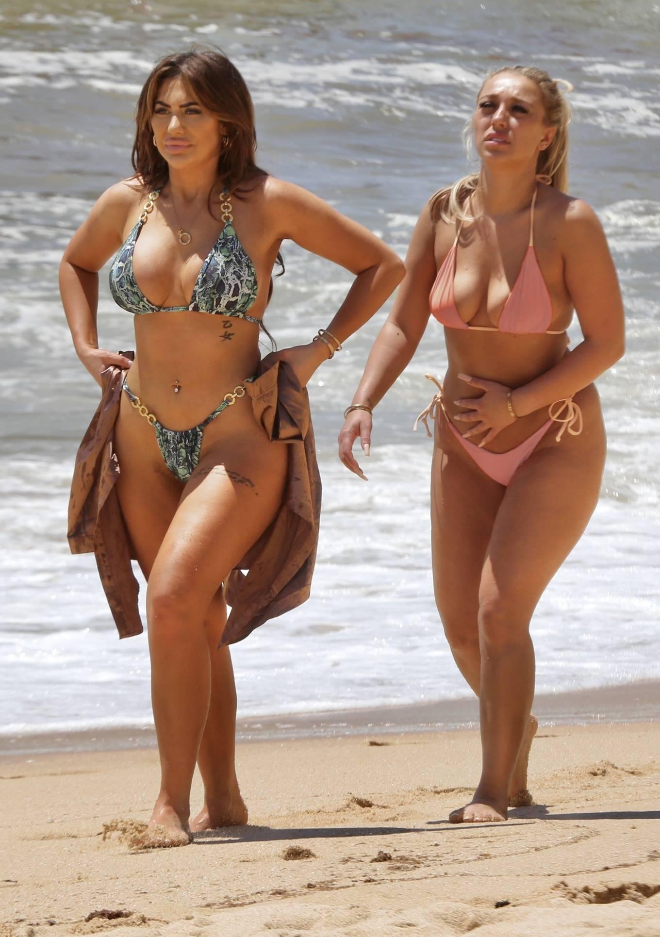 Chloe Ferry - With Bethan Kershaw bikini on the beaches of Portugal