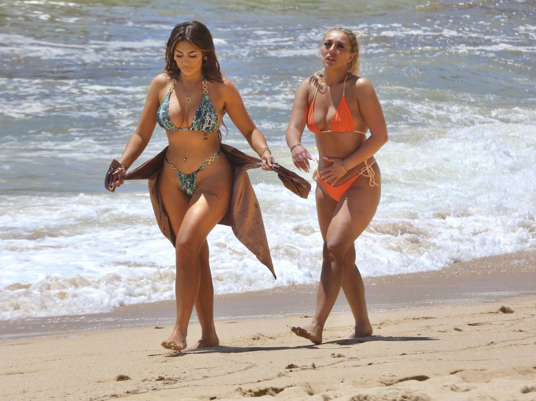 Chloe Ferry 2021 : Chloe Ferry – With Bethan Kershaw bikini on the beaches of Portugal-11