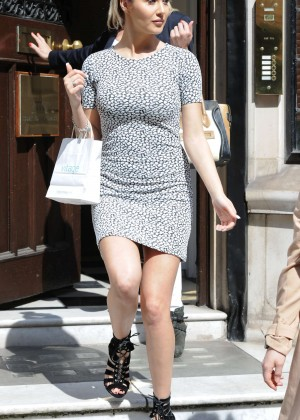 Chloe Goodman in Mini Dress at Court House Clinic in London