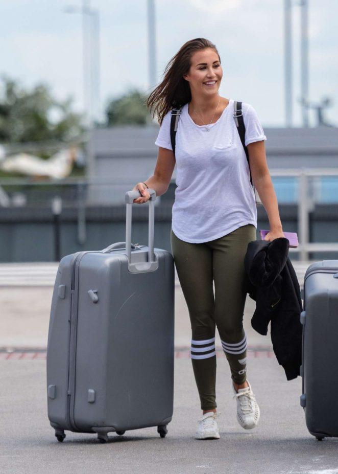 Chloe Goodman at Heathrow Airport in London