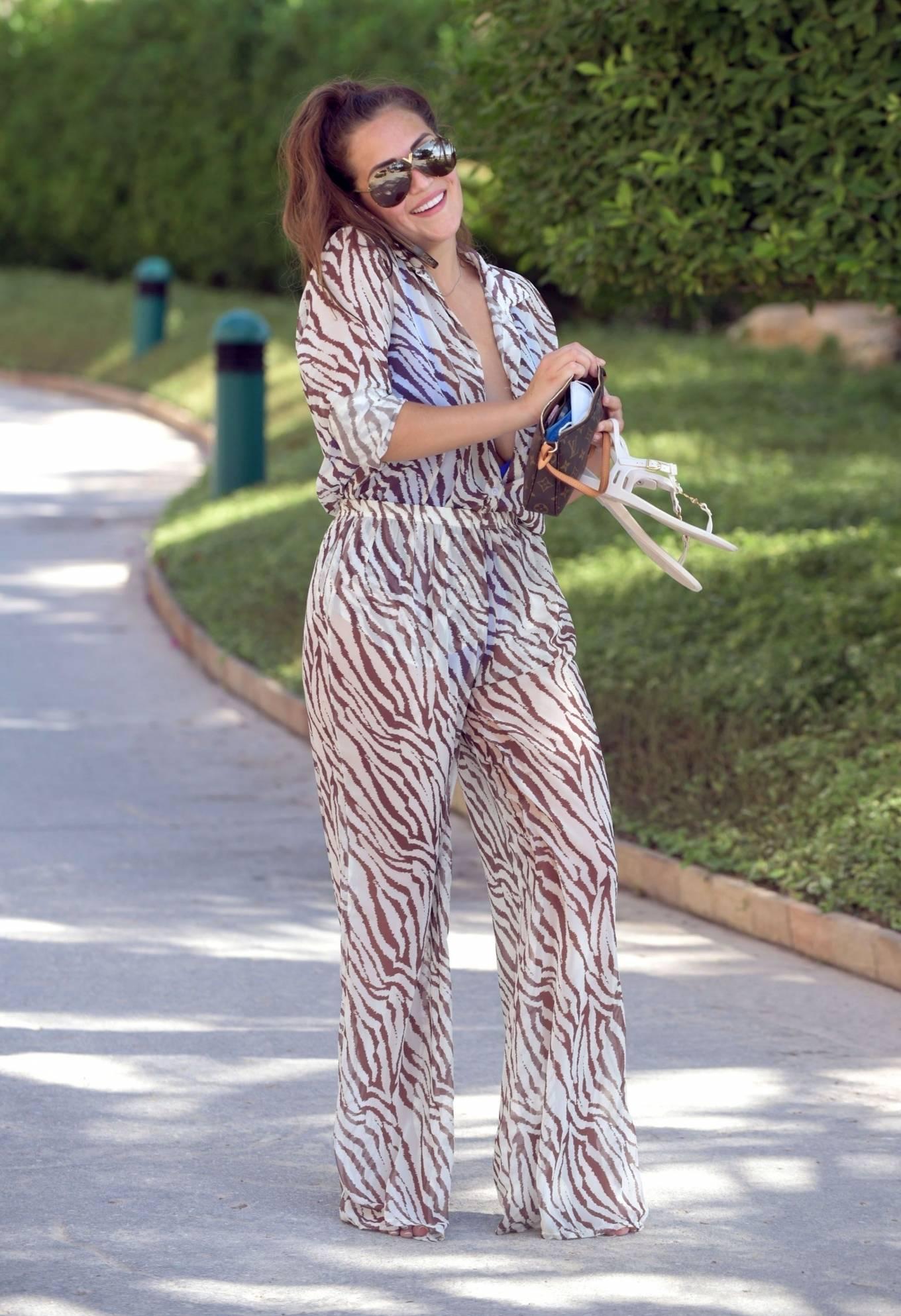 Chloe Goodman 2020 : Chloe Goodman – In a zebra print jumpsuit out on holiday in Dubai-03