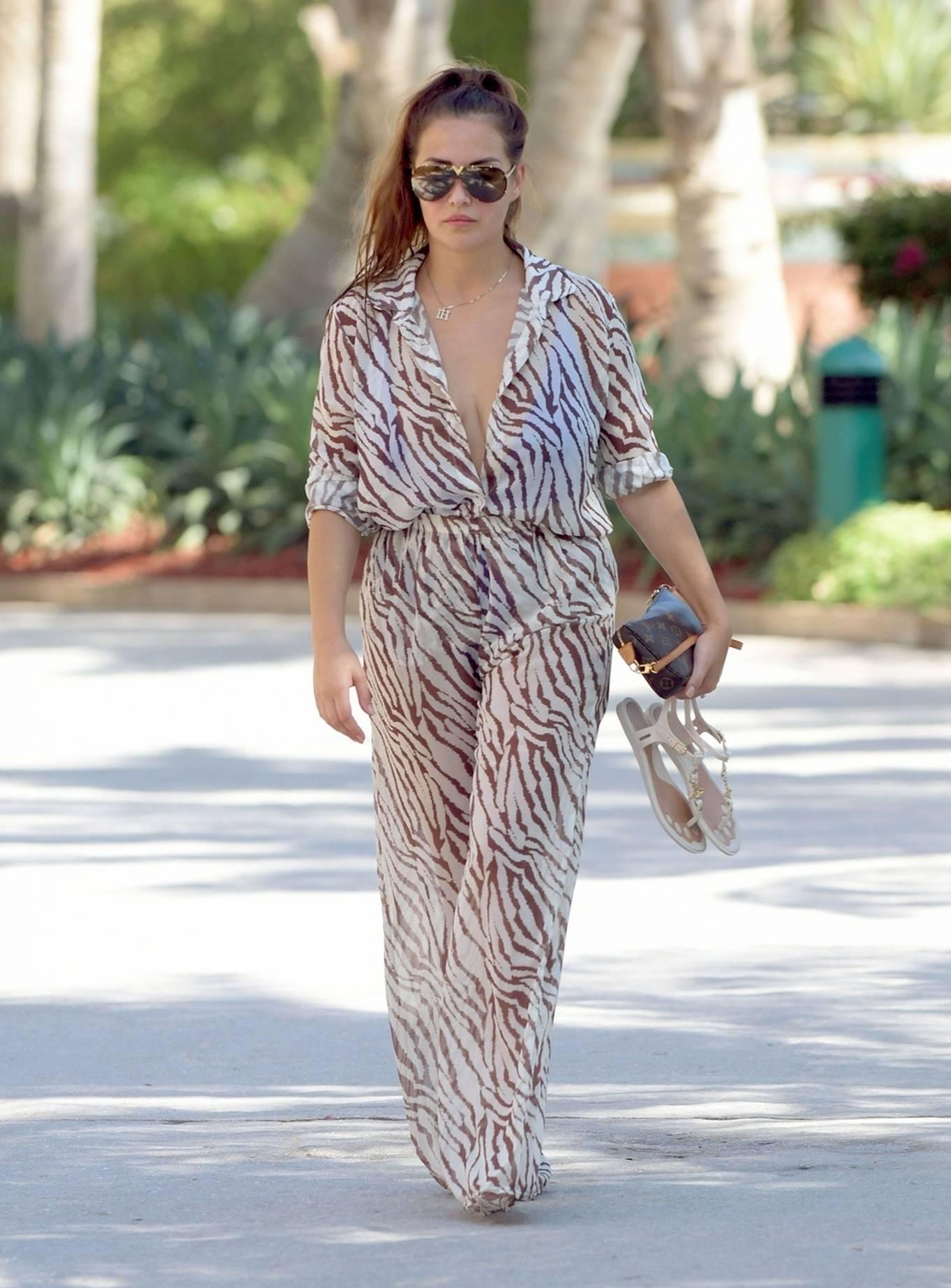 Chloe Goodman 2020 : Chloe Goodman – In a zebra print jumpsuit out on holiday in Dubai-07
