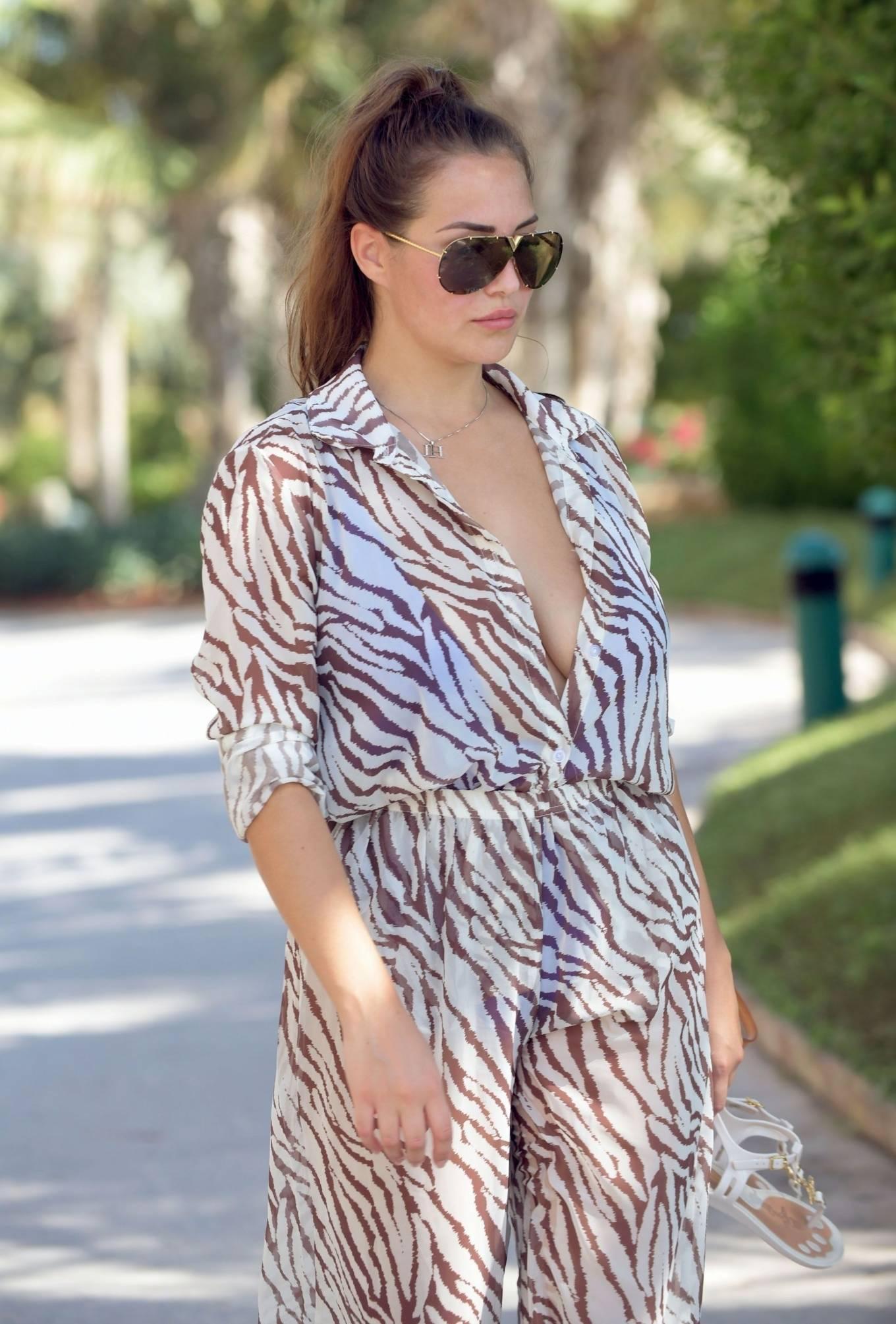 Chloe Goodman 2020 : Chloe Goodman – In a zebra print jumpsuit out on holiday in Dubai-11