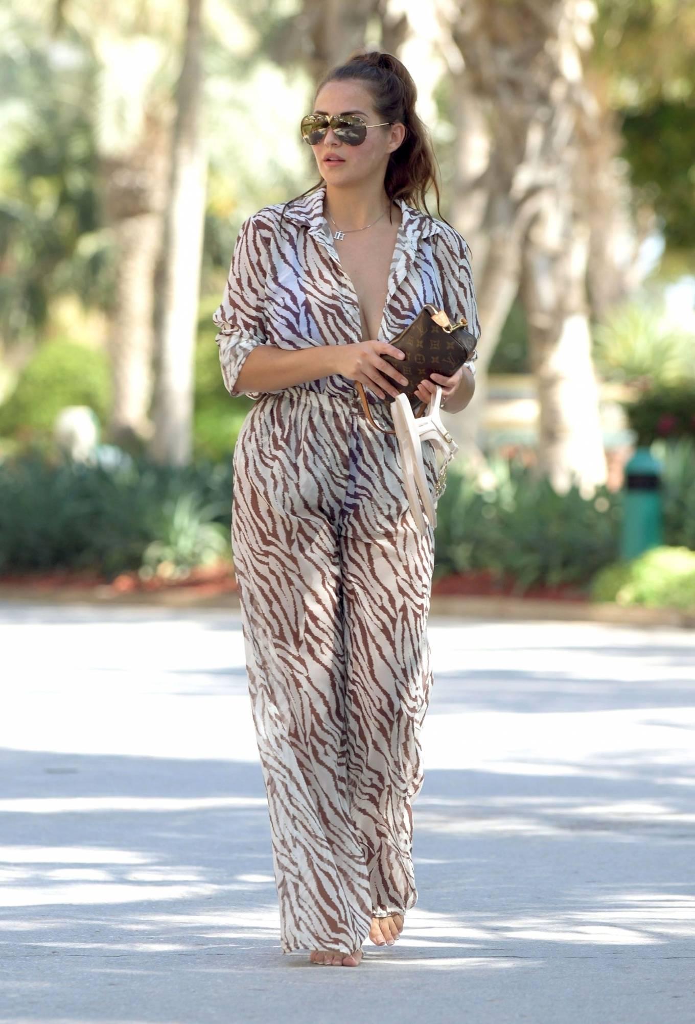 Chloe Goodman 2020 : Chloe Goodman – In a zebra print jumpsuit out on holiday in Dubai-12
