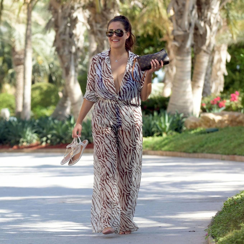 Chloe Goodman 2020 : Chloe Goodman – In a zebra print jumpsuit out on holiday in Dubai-16