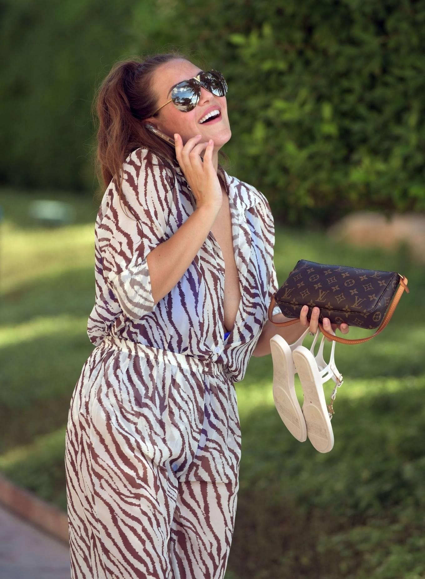 Chloe Goodman 2020 : Chloe Goodman – In a zebra print jumpsuit out on holiday in Dubai-20