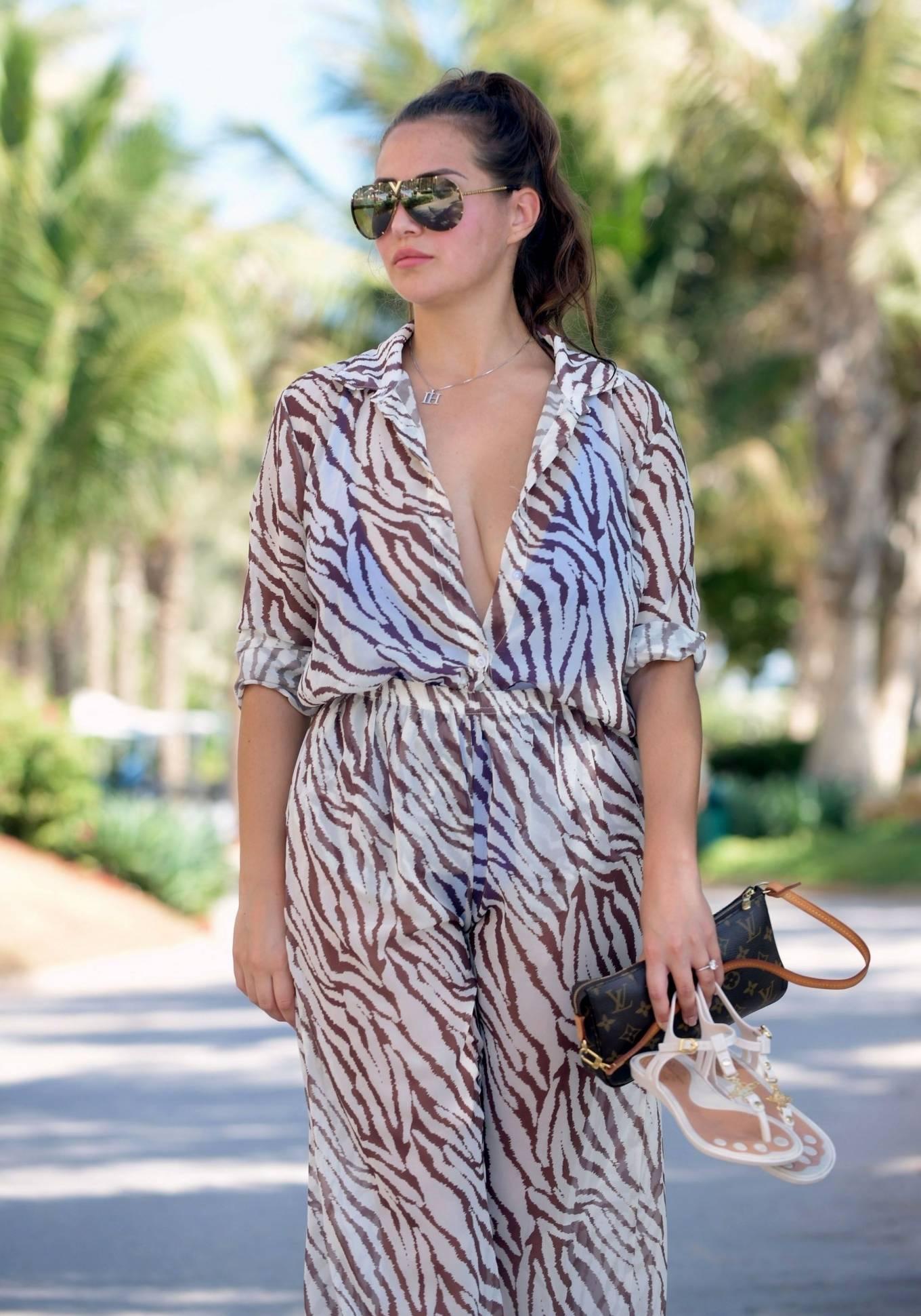 Chloe Goodman 2020 : Chloe Goodman – In a zebra print jumpsuit out on holiday in Dubai-22