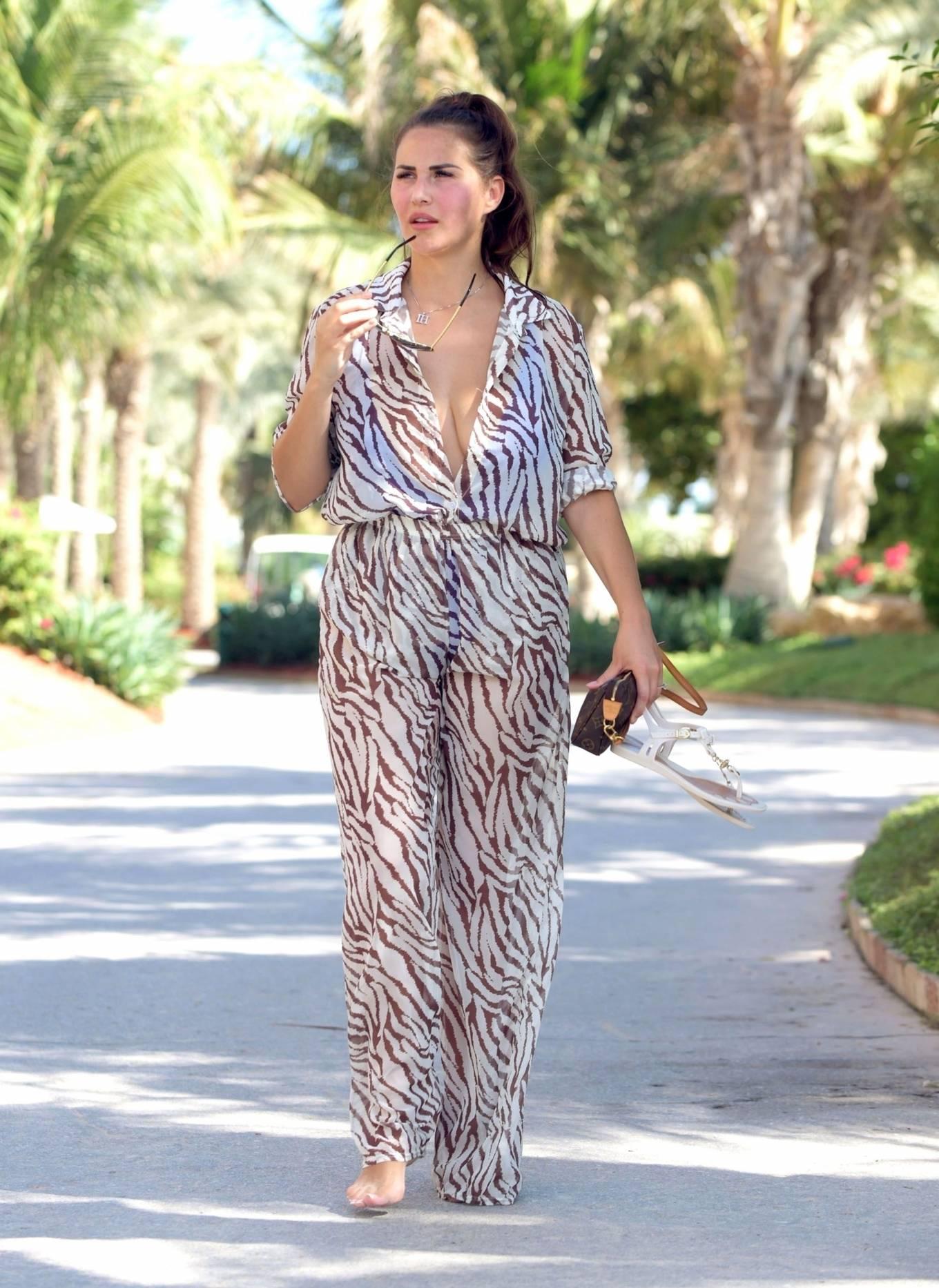 Chloe Goodman 2020 : Chloe Goodman – In a zebra print jumpsuit out on holiday in Dubai-24