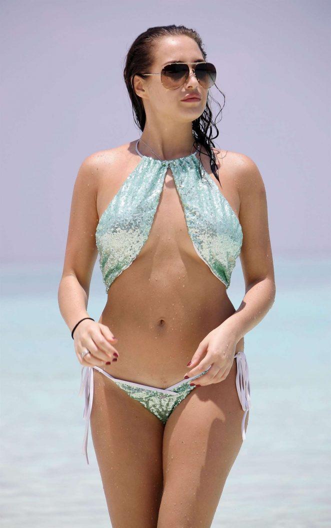 Chloe Goodman in Bikini in Barbados