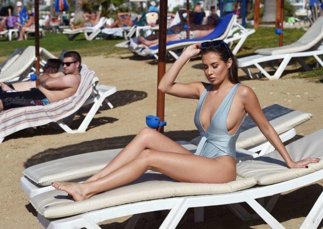 Chloe Goodman in Blue Swimsuit -02