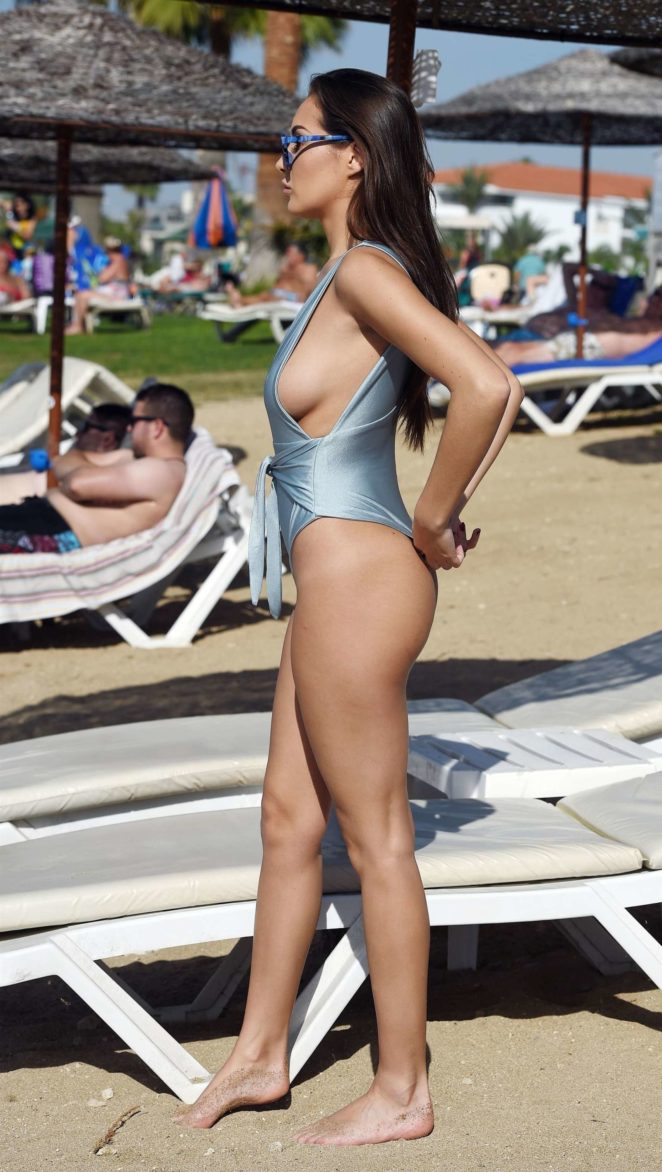 Chloe Goodman in Blue Swimsuit -08